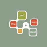 Molde retro simples do Web site do vetor do estilo ilustração royalty free