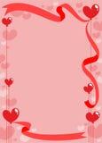 Molde romântico do cartão do convite ilustração stock