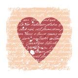 Molde romântico do projeto Textura escrita à mão Foto de Stock Royalty Free