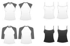 Molde-Séries cabidas 3 do t-shirt das mulheres ilustração stock