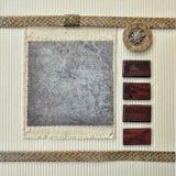 Molde scrapbooking do fundo abstrato do vintage Imagem de Stock