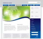Molde simples do Web site Fotografia de Stock