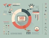 Molde social de Infographic dos meios Imagem de Stock