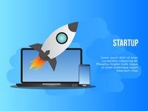 Molde Startup do projeto do vetor da ilustração do conceito do negócio ilustração royalty free