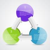 Projeto do negócio com setas e áreas de texto Imagem de Stock