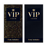 Molde superior do projeto do cartão do convite do VIP Foto de Stock