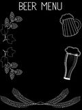 Molde tirado mão 2 do menu da cerveja ilustração royalty free