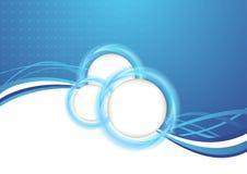 Molde transparente azul do fundo ilustração stock