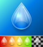 Molde transparente da gota da água Imagens de Stock Royalty Free