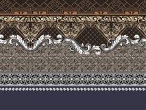 Geometric baroque golden pattern border. Lines elegant art element luxurious design vector illustration