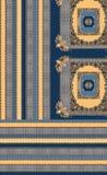 Geometric colors baroque blue yellow royalty free illustration