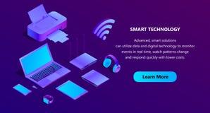 Molde ultravioleta isométrico do página da web do vetor 3d Imagem de Stock