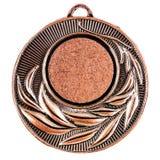 Molde vazio da medalha de bronze Imagem de Stock
