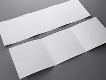 Molde vazio do folheto quadrado dobrável em três partes Imagem de Stock Royalty Free