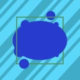 Molde vazio do negócio para a disposição para o vetor oval da placa assimétrica do comprovante do cartaz da promoção do cartão do ilustração do vetor