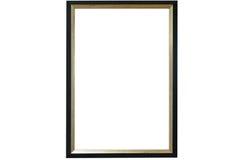 Molde vazio do quadro do preto de imagem isolado na parede Fotografia de Stock Royalty Free