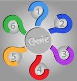 Molde vazio do Quiz Imagem de Stock Royalty Free