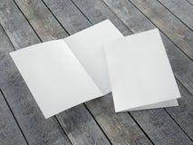 Molde vazio do tamanho dobrado do folheto A4 Imagens de Stock Royalty Free