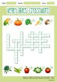 Molde vegetal do jogo das palavras cruzadas ilustração stock