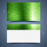 Molde verde do cartão. Fundo abstrato ilustração stock
