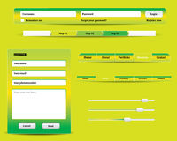 Molde verde do Web site Fotografia de Stock