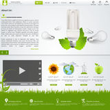 Molde verde do Web site do eco Foto de Stock Royalty Free