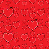 Molde vermelho do coração do amor ilustração do vetor