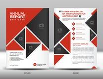 Molde vermelho do inseto do folheto do negócio do molde do informe anual em A Imagens de Stock Royalty Free