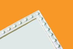 Moldeado de la esquina del panel en blanco Imagen de archivo libre de regalías