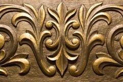 Moldeado dorado del yeso Imagen de archivo libre de regalías