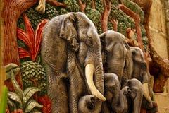 Molded elephant figure. Sticks the wall stock photos