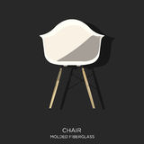 Molded Fiberglass Chair Stock Photo