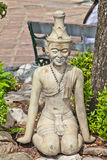 Molded figure. For  learn about thai massage in wat pho thailand Royalty Free Stock Photography