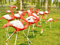 A molded figure flamingo. A molded figure red and white flamingo Royalty Free Stock Photography