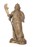 Molded figure Guan Yu isolated Royalty Free Stock Photography