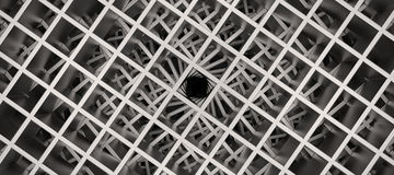 Molded grating. Background (drain covers Stock Images