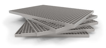 Molded grating (drain grate) Royalty Free Stock Photos