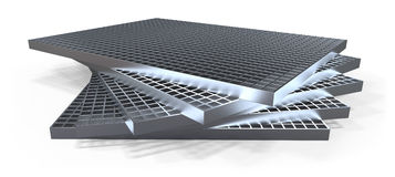 Molded grating (drain grate) Stock Photo