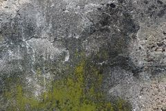 Molded grunge concrete wall. For multiple uses Royalty Free Stock Photo