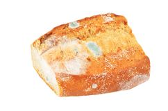Molded loaf of bread. Isolated on white background Royalty Free Stock Photography