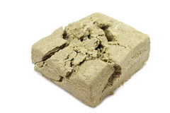 Molded piece of broken-halva Stock Photo