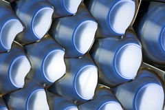 Molded plastic background, blue and silver Stock Photography