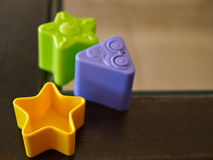 Molded toy in different shapes Royalty Free Stock Image