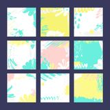Moldes abstratos do cartão Foto de Stock