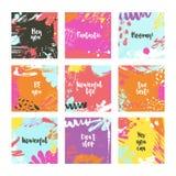 Moldes abstratos do cartão Imagens de Stock