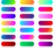 Moldes arredondados coloridos do botão isolados no branco Imagem de Stock