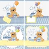 Moldes bonitos para o cartão do bebê Imagens de Stock Royalty Free