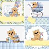 Moldes bonitos para o cartão do bebê Imagens de Stock