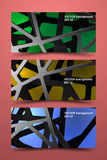 Moldes coloridos da bandeira Fundo do carbono de Digitas Imagem de Stock Royalty Free