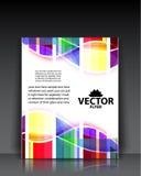 Moldes coloridos do folheto Foto de Stock Royalty Free
